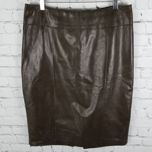 DANIER   buttery soft Italian leather pencil skirt